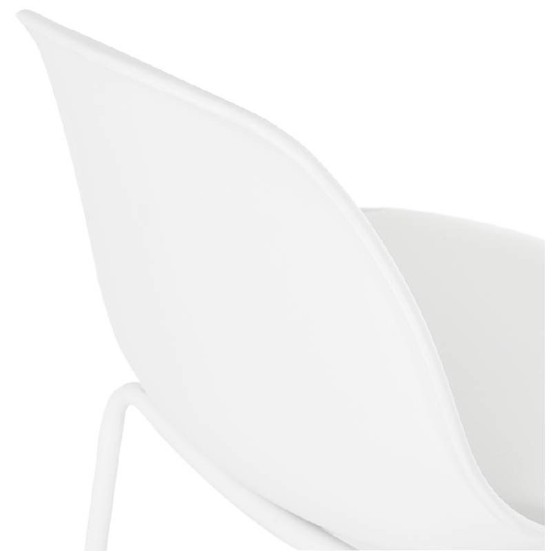 Tabouret de bar chaise de bar industriel OCEANE (blanc) - image 37427