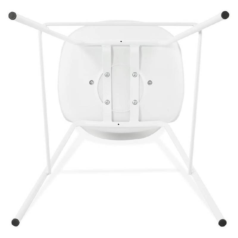 Tabouret de bar chaise de bar industriel OCEANE (blanc) - image 37430