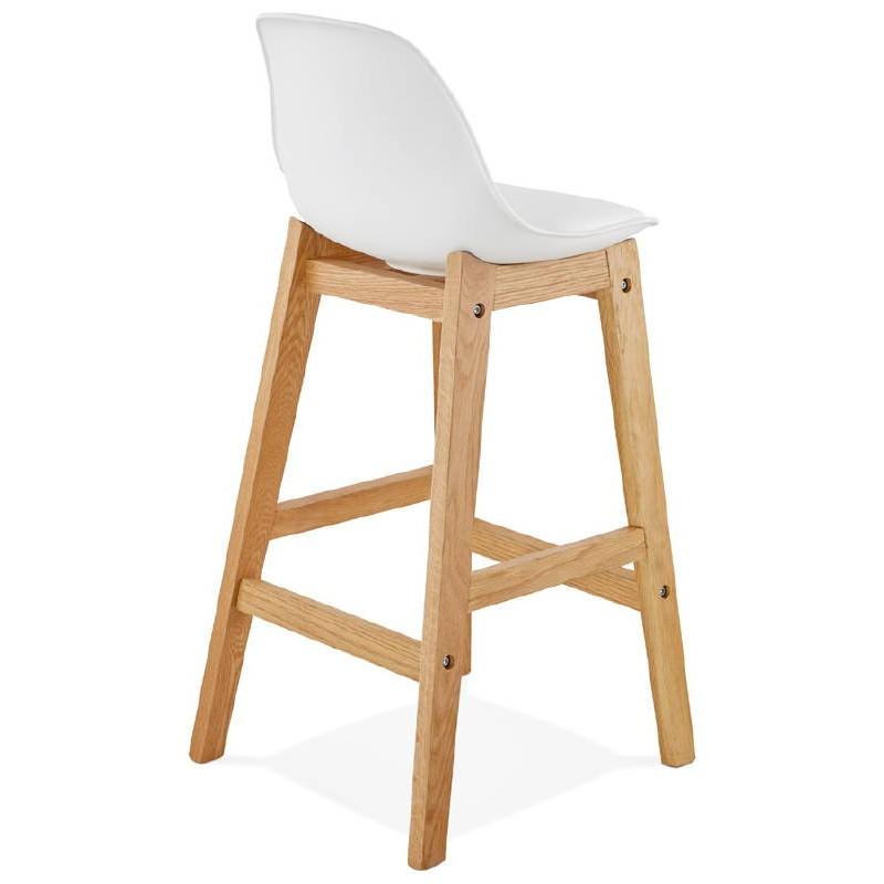 Tabouret de bar chaise de bar mi-hauteur design scandinave FLORENCE MINI (blanc) - image 37435