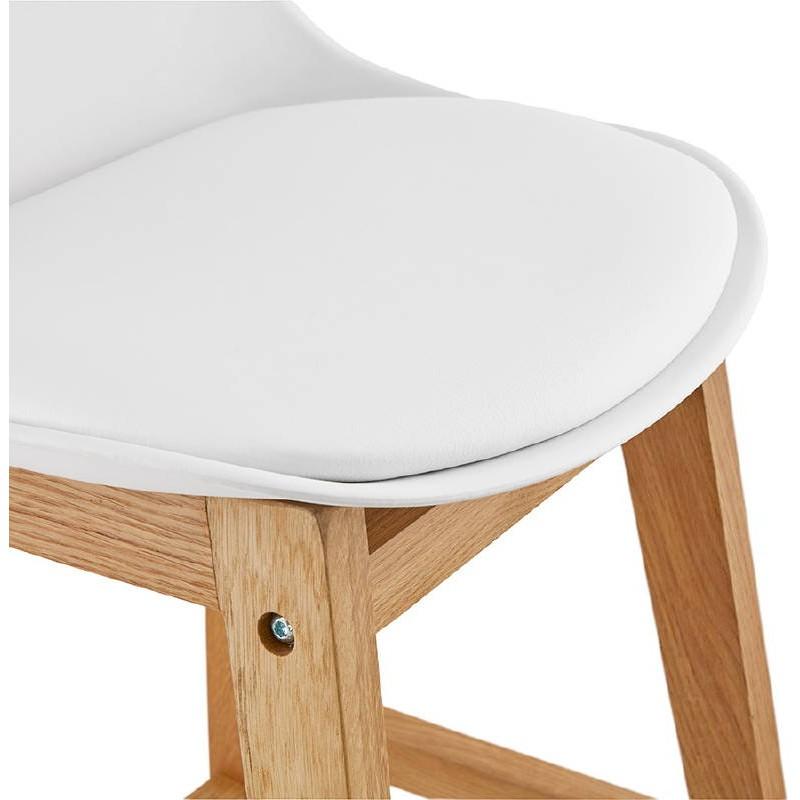 Tabouret de bar chaise de bar mi-hauteur design scandinave FLORENCE MINI (blanc) - image 37439