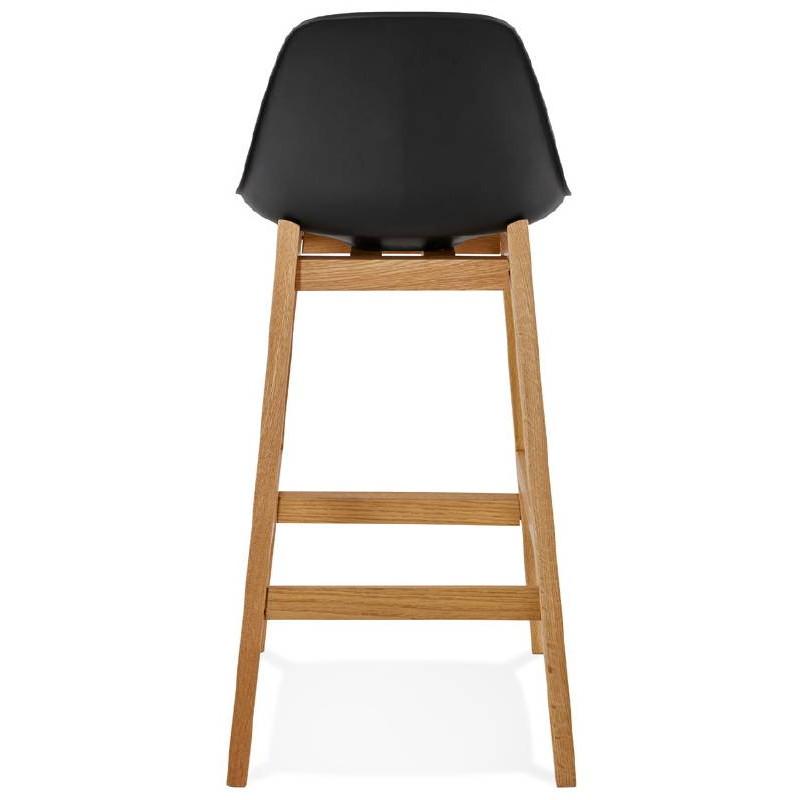 Tabouret de bar chaise de bar mi-hauteur design scandinave FLORENCE MINI (noir) - image 37448