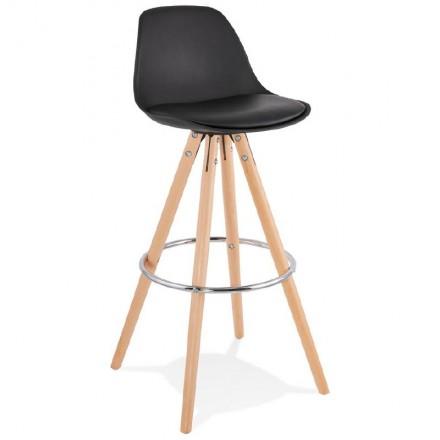 Barhocker Design skandinavischen Oktave (schwarz)