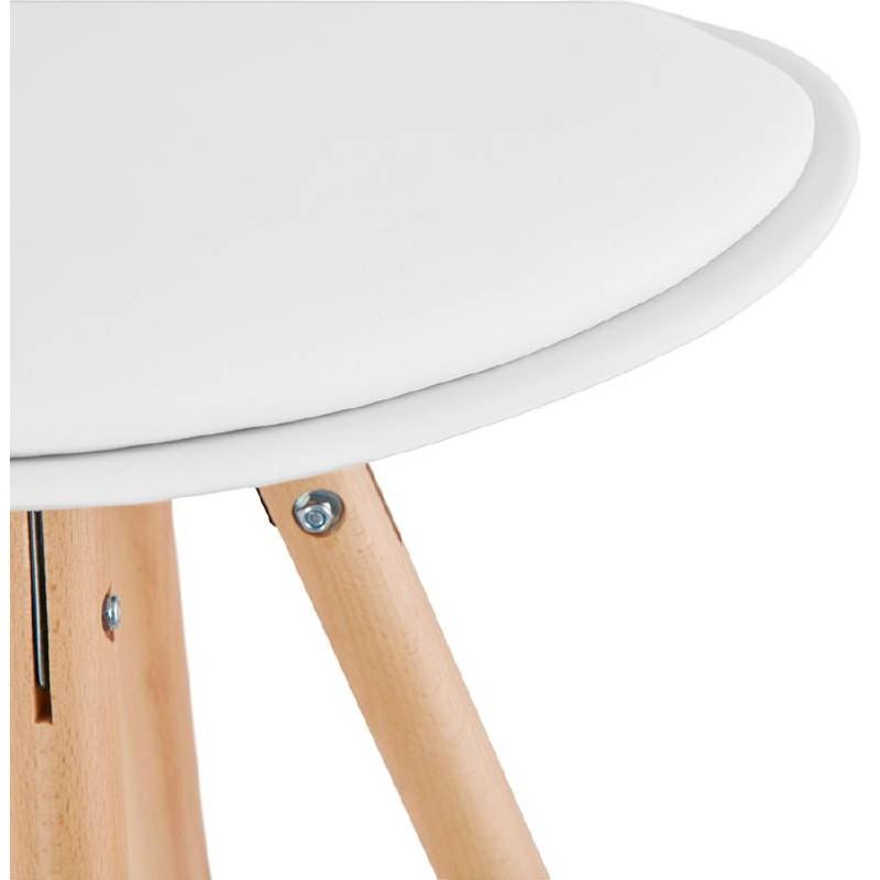Tabouret de bar design scandinave OCTAVE (blanc) - image 37477