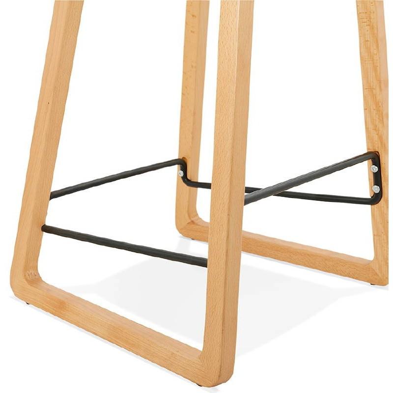 Tabouret de bar chaise de bar mi-hauteur scandinave SCARLETT MINI (rose poudré) - image 37493