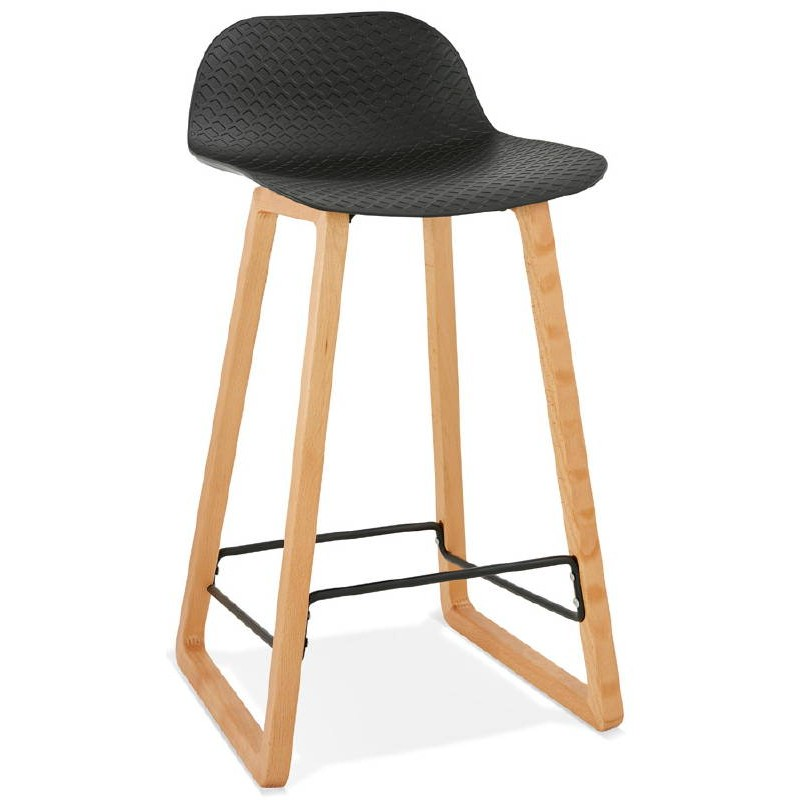 tabouret de bar chaise de bar mi hauteur scandinave scarlett mini noir. Black Bedroom Furniture Sets. Home Design Ideas