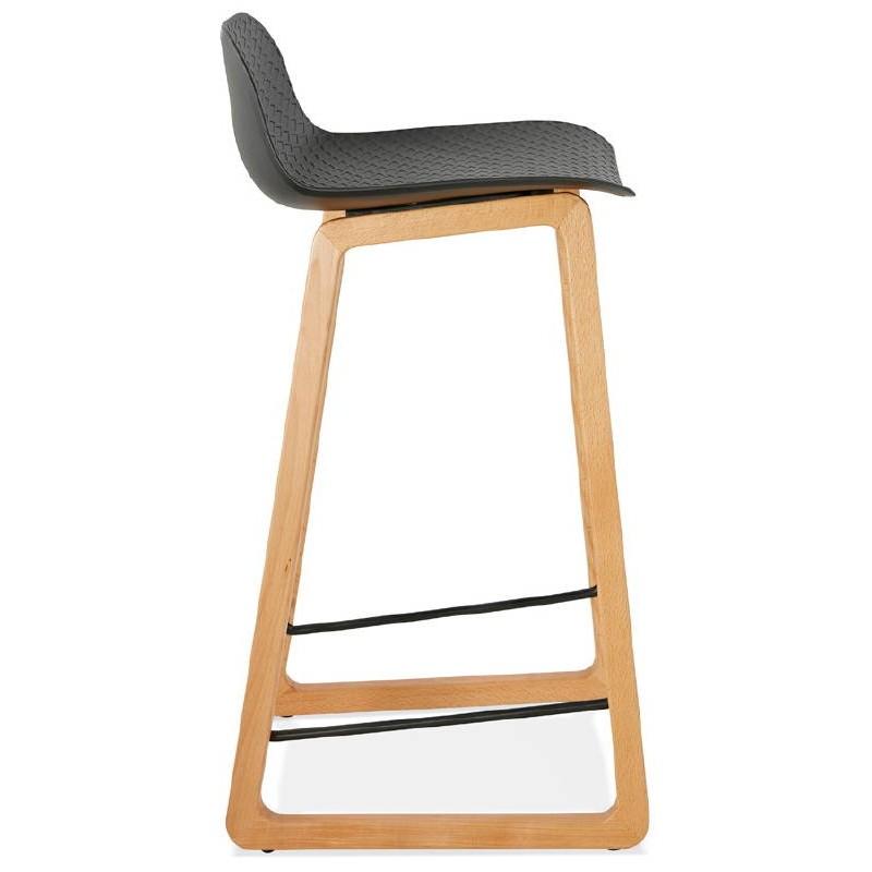 Tabouret de bar chaise de bar mi-hauteur scandinave SCARLETT MINI (noir) - image 37500