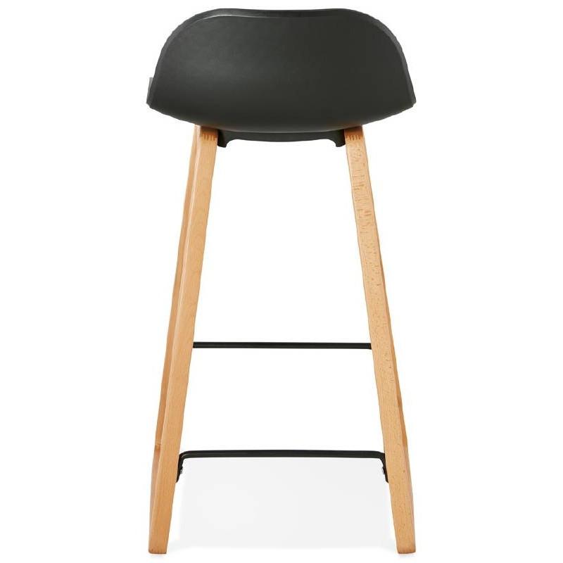tabouret de bar chaise de bar mi hauteur scandinave scarlett mini noir. Black Bedroom Furniture Sets. Home Design Ideas