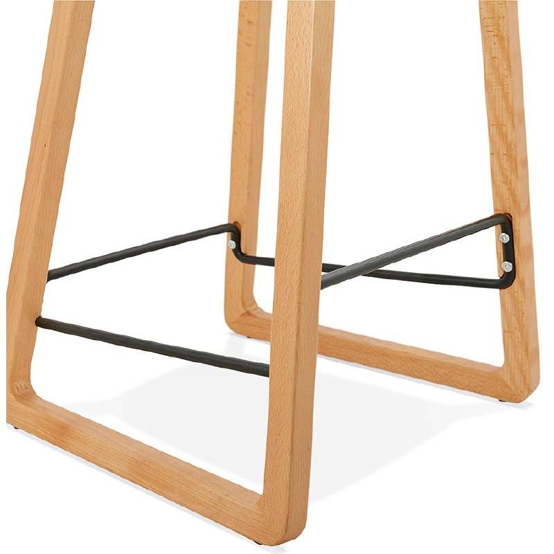 Tabouret de bar chaise de bar mi-hauteur scandinave SCARLETT MINI (noir) - image 37506