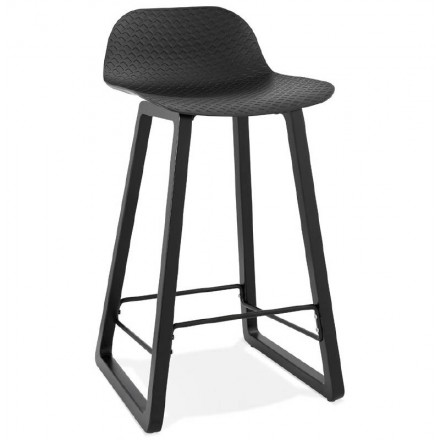 Bar bar halfway up design OBELINE MINI (black) chair stool