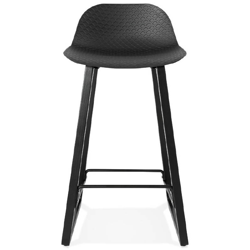 tabouret de bar chaise de bar mi hauteur design obeline mini noir. Black Bedroom Furniture Sets. Home Design Ideas