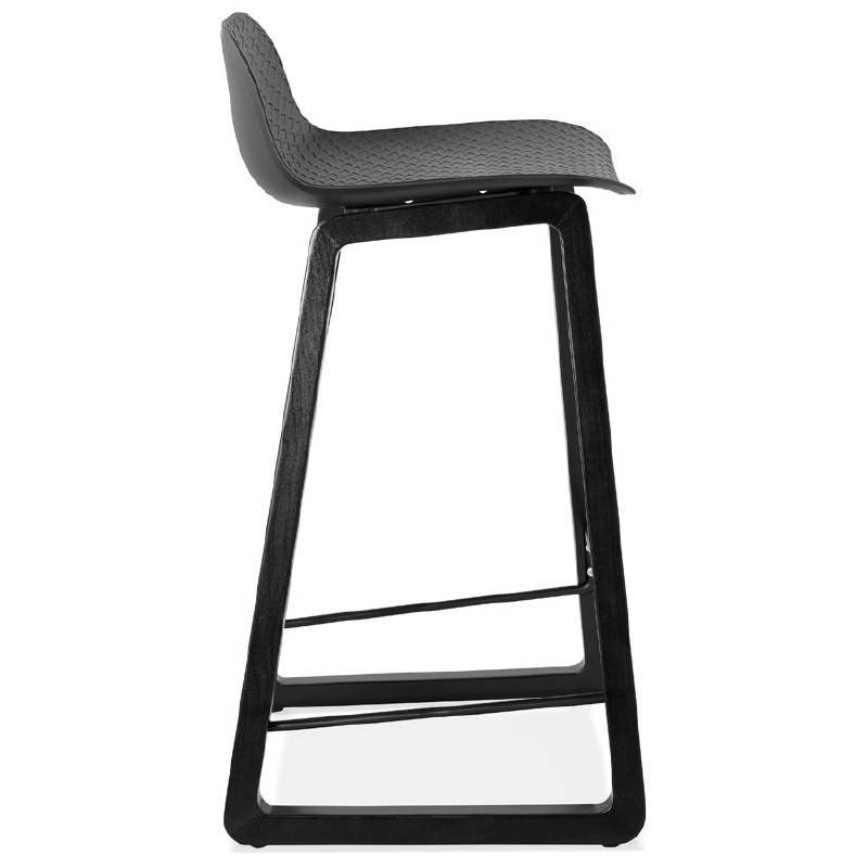 Tabouret de bar chaise de bar mi-hauteur design OBELINE MINI (noir) - image 37513