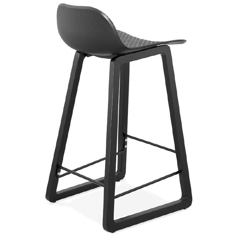 Tabouret de bar chaise de bar mi-hauteur design OBELINE MINI (noir) - image 37514