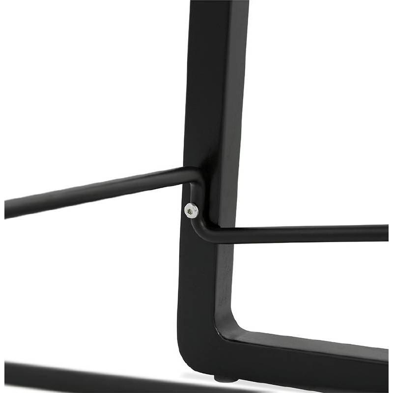 Tabouret de bar chaise de bar mi-hauteur design OBELINE MINI (noir) - image 37520