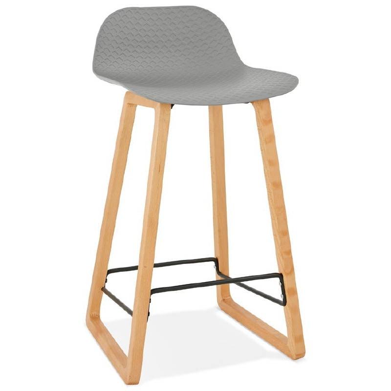 Tabouret de bar chaise de bar mi-hauteur scandinave SCARLETT MINI (gris clair) - image 37524