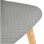 Scandinavo metà altezza SCARLETT MINI bar sedia sgabello (grigio chiaro)