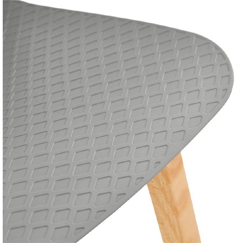 Tabouret de bar chaise de bar mi-hauteur scandinave SCARLETT MINI (gris clair) - image 37530