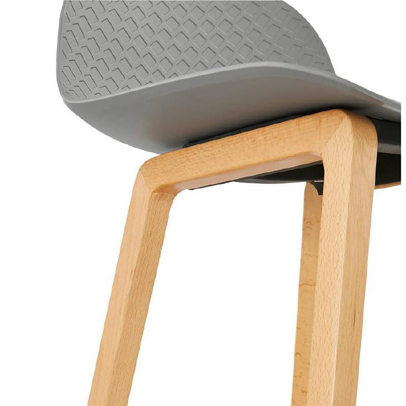 Tabouret de bar chaise de bar mi-hauteur scandinave SCARLETT MINI (gris clair) - image 37532