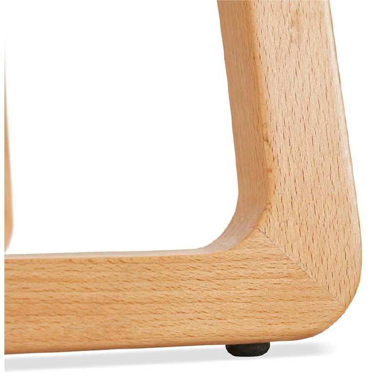 Tabouret de bar chaise de bar mi-hauteur scandinave SCARLETT MINI (gris clair) - image 37535