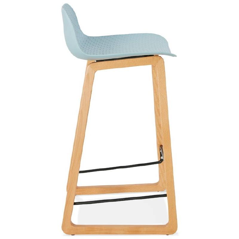 Tabouret de bar chaise de bar mi-hauteur scandinave SCARLETT MINI (bleu ciel) - image 37540