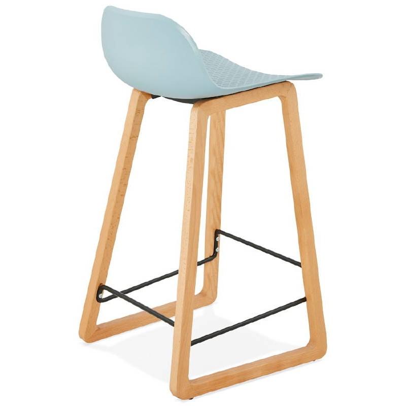 Tabouret de bar chaise de bar mi-hauteur scandinave SCARLETT MINI (bleu ciel) - image 37541