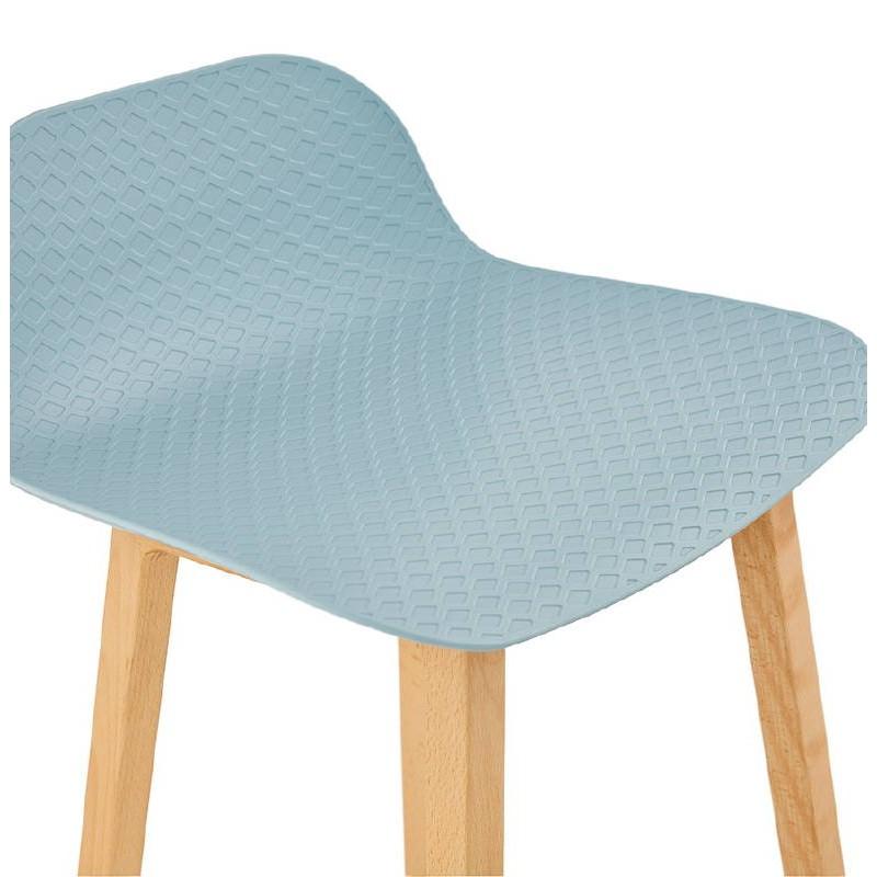 Tabouret de bar chaise de bar mi-hauteur scandinave SCARLETT MINI (bleu ciel) - image 37543