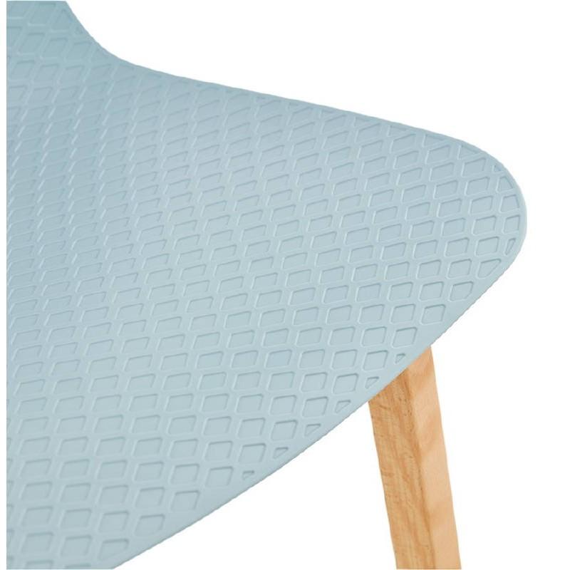 Tabouret de bar chaise de bar mi-hauteur scandinave SCARLETT MINI (bleu ciel) - image 37544