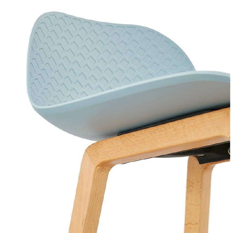 Tabouret de bar chaise de bar mi-hauteur scandinave SCARLETT MINI (bleu ciel) - image 37546