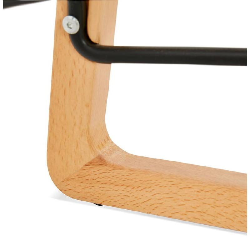 Tabouret de bar chaise de bar mi-hauteur scandinave SCARLETT MINI (bleu ciel) - image 37551