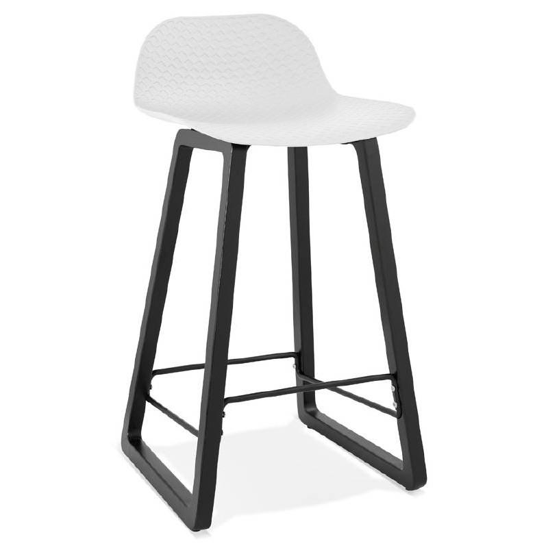 Tabouret de bar chaise de bar mi-hauteur design OBELINE MINI (blanc) - image 37553