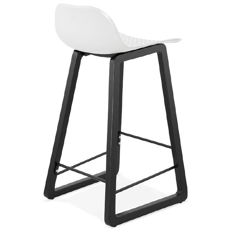 Tabouret de bar chaise de bar mi-hauteur design OBELINE MINI (blanc) - image 37556
