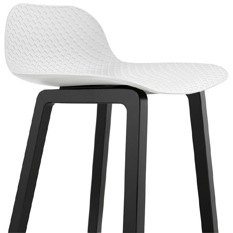 tabouret de bar chaise de bar mi hauteur design obeline mini blanc. Black Bedroom Furniture Sets. Home Design Ideas