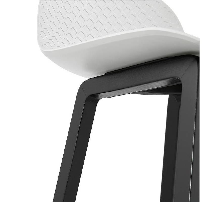 Tabouret de bar chaise de bar mi-hauteur design OBELINE MINI (blanc) - image 37559