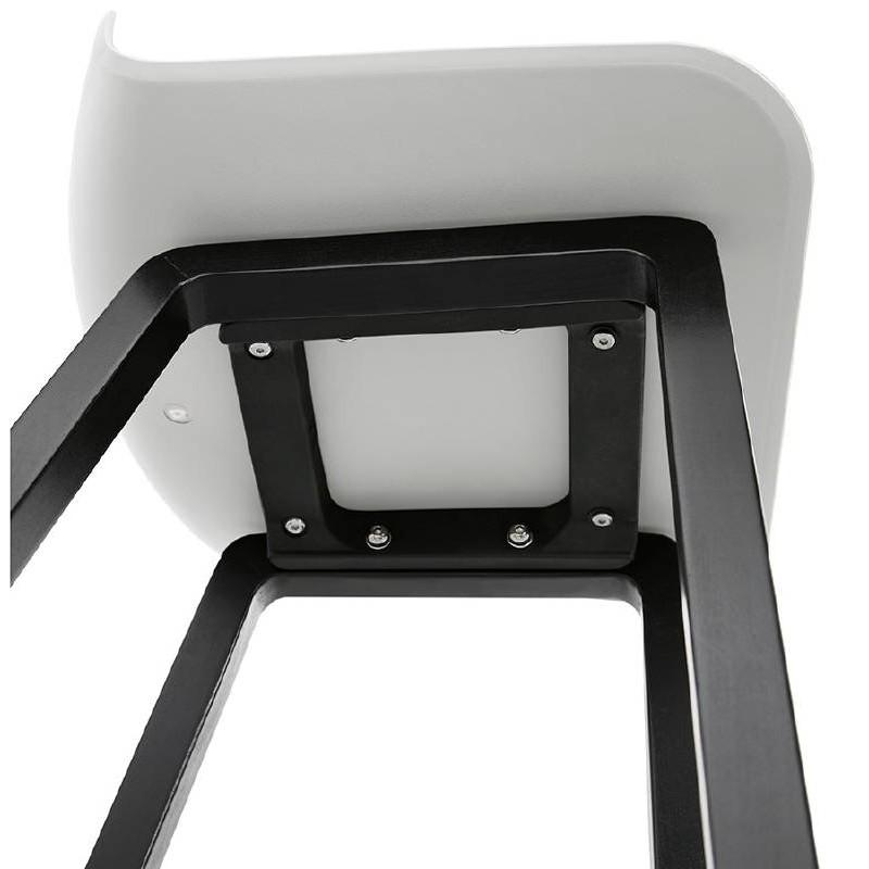 Tabouret de bar chaise de bar mi-hauteur design OBELINE MINI (blanc) - image 37560