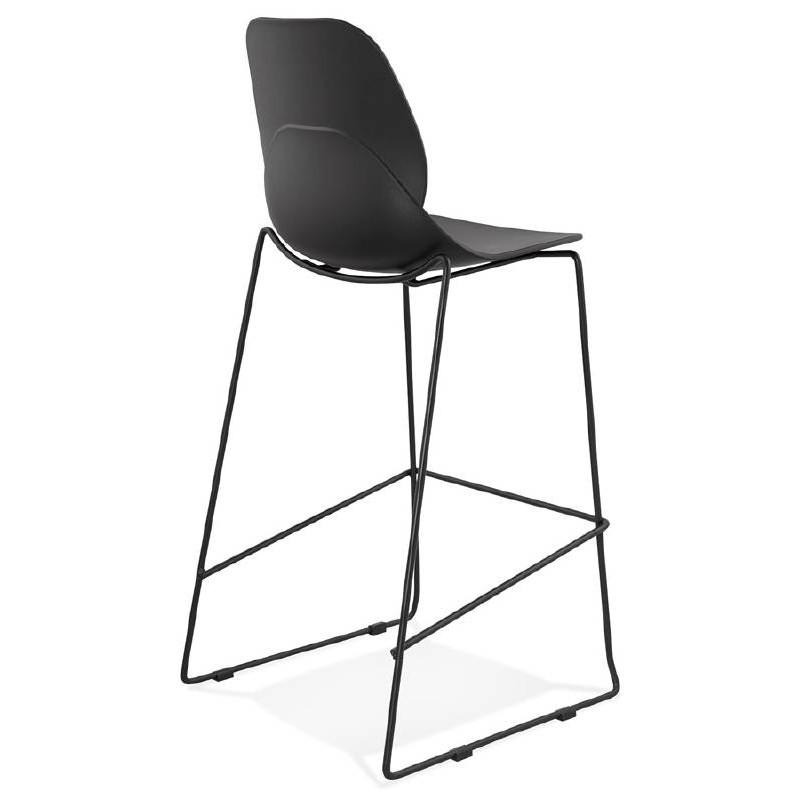 Tabouret de bar chaise de bar industriel empilable JULIETTE (noir) - image 37581