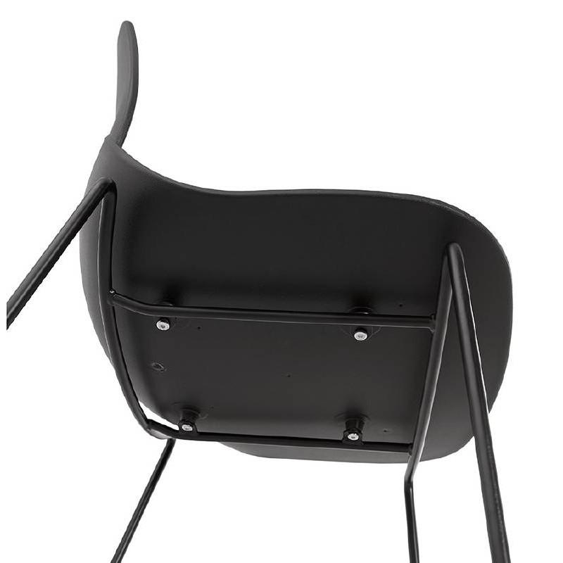 Tabouret de bar chaise de bar industriel empilable JULIETTE (noir) - image 37588