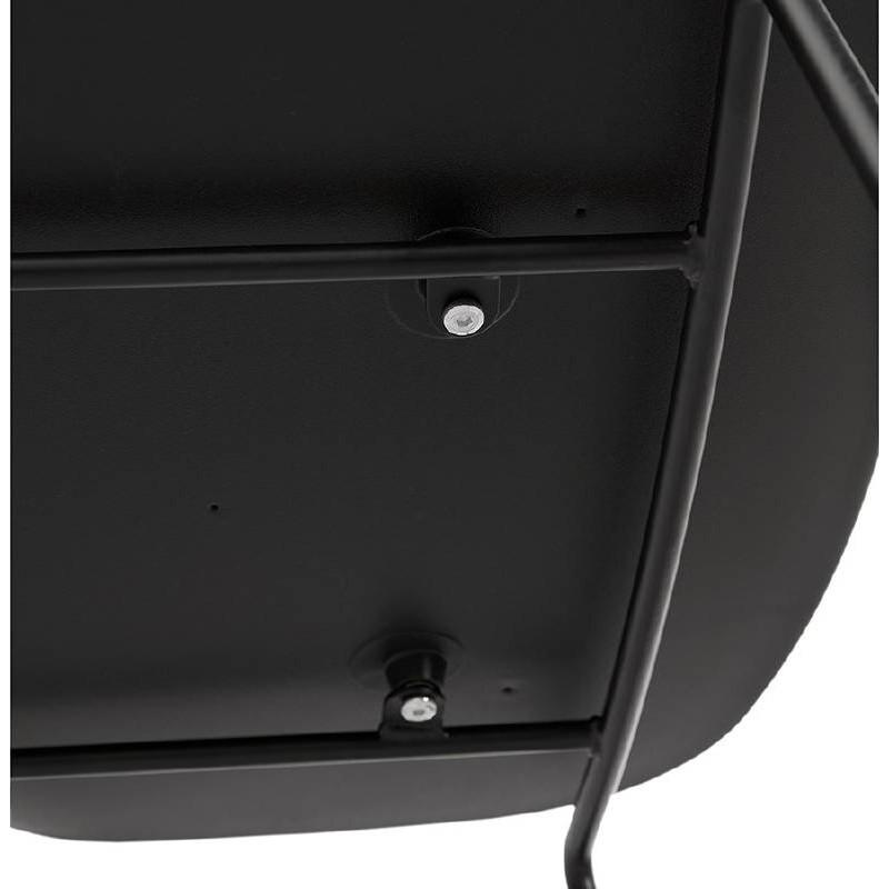 Tabouret de bar chaise de bar industriel empilable JULIETTE (noir) - image 37589