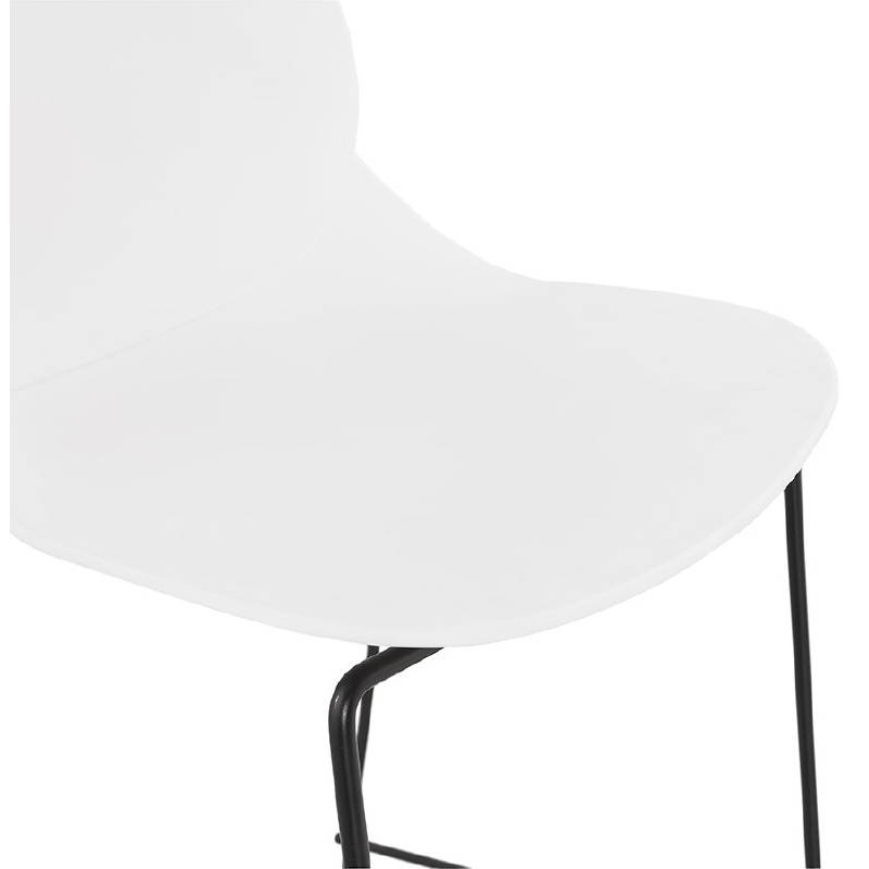 Tabouret de bar chaise de bar industriel mi-hauteur empilable JULIETTE MINI (blanc) - image 37610