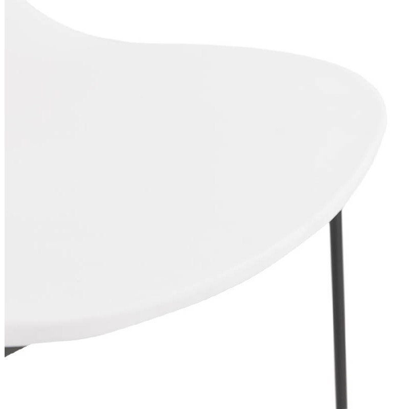 Tabouret de bar chaise de bar industriel mi-hauteur empilable JULIETTE MINI (blanc) - image 37612