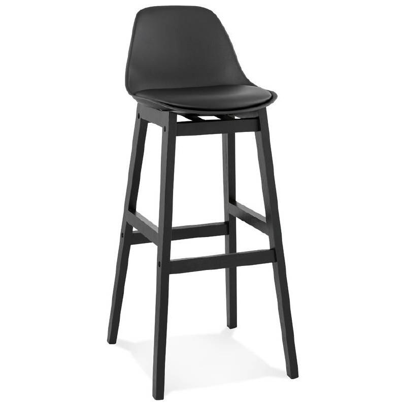 Tabouret de bar chaise de bar design JACK (noir) - image 37630