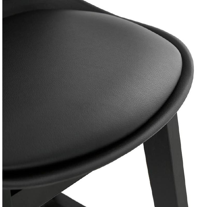 Tabouret de bar chaise de bar design JACK (noir) - image 37637