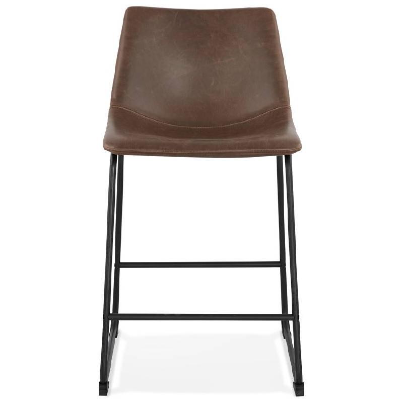 Tabouret de bar chaise de bar mi-hauteur vintage JOE MINI (marron) - image 37643
