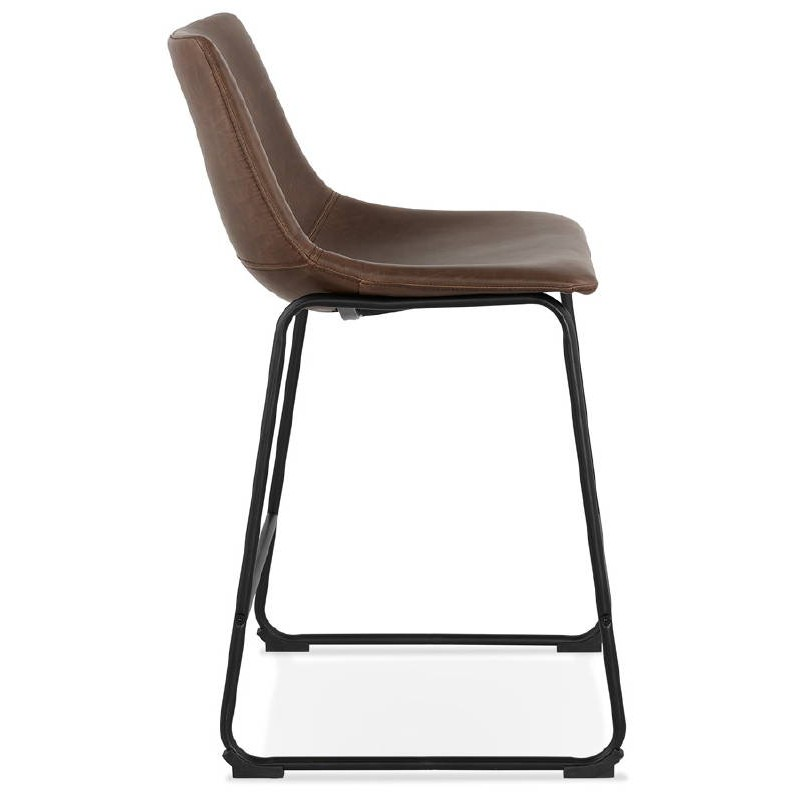 Tabouret de bar chaise de bar mi-hauteur vintage JOE MINI (marron) - image 37644