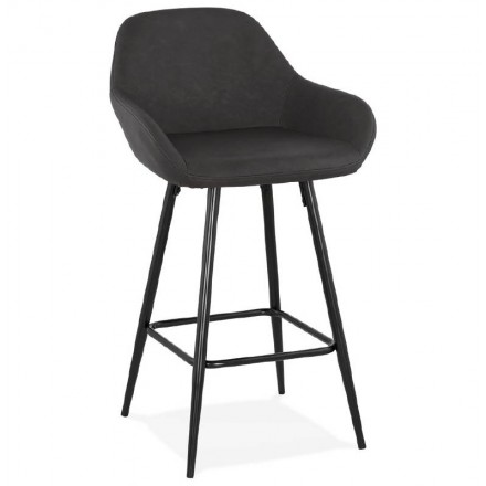 Barstool design mid-height JOSEPH MINI bar Chair (dark gray)