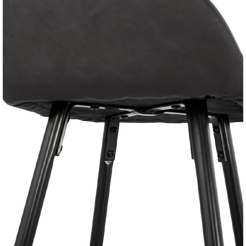 Sedia bar Sgabello da bar design metà altezza JOSEPH MINI (grigio scuro) - image 37672