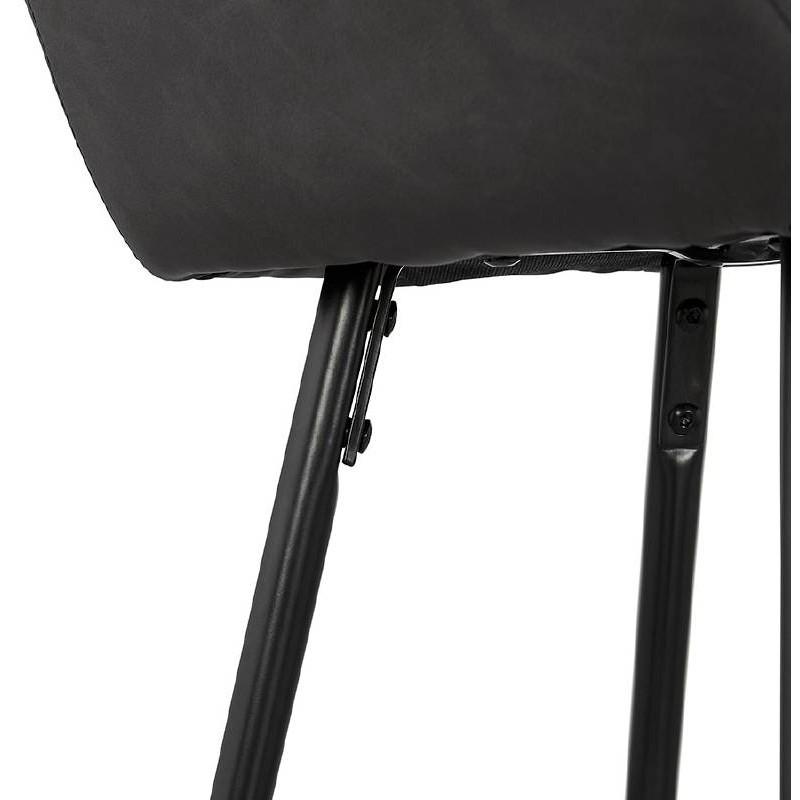 Sedia bar Sgabello da bar design metà altezza JOSEPH MINI (grigio scuro) - image 37674