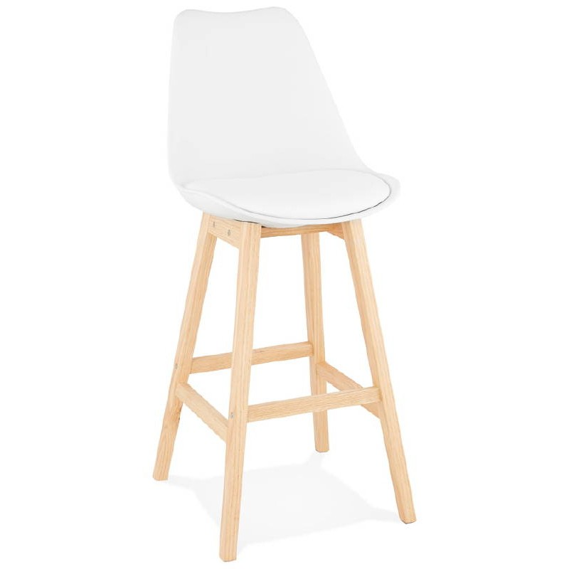 Tabouret de bar chaise de bar design scandinave DYLAN (blanc) - image 37679