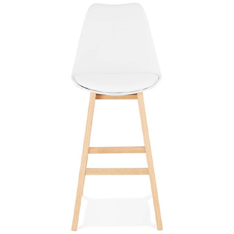 Tabouret de bar chaise de bar design scandinave DYLAN (blanc) - image 37680