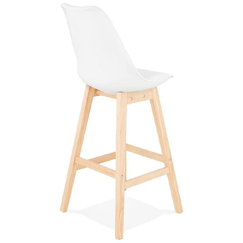 Tabouret de bar chaise de bar design scandinave DYLAN (blanc) - image 37682