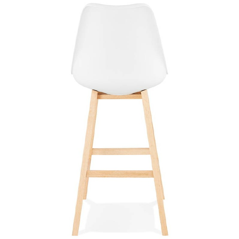 Tabouret de bar chaise de bar design scandinave DYLAN (blanc) - image 37683