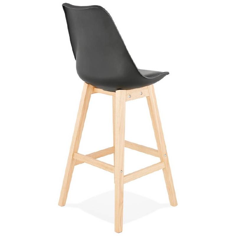 Tabouret de bar chaise de bar design scandinave DYLAN (noir) - image 37698